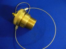 """Fixed End Assembly CO2 1.5"""" Machined Brass 1.5"""" MNPT With Brass Dustcap"""