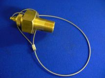 "Hose End Assembly CO2 1"" Machined Brass 1"" MNPT With Tailplug"