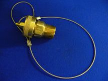 """Fixed End Assembly CO2 1"""" Machined Brass 1"""" MNPT With Brass Dustcap"""