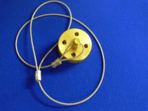 "Dustcap Assembly CO2 1"" Machined Brass With SS Cable"