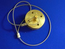 "Dustcap Assembly CO2 1.5"" Machined Brass With SS Cable"