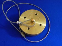 "Dustcap Assembly CO2 2"" Machined Brass With SS Cable"
