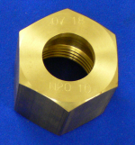 "Nut Nitrous Oxide 1"" Machined Brass"