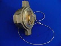 "Pressure Cap Assembly OXY 2"" Cast Bronze Nut & Brass Headplug"
