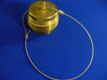 """Tailplug Assembly ARG 2.5"""" Machined Brass With SS Cable"""