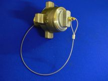 """Hose End Assembly ARG 1.5"""" Machined Brass 1.5"""" MNPT With Tailplug"""