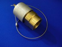 """Fixed End Assembly NIT 1.5"""" Machined Brass 1.5"""" FNPT WithDustcap"""