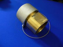 "Fixed End Assembly NIT 2.5"" Machined Brass 2.5"" FNPT With Dustcap"