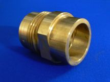 "Fixed End NIT 2.5"" Machined Brass 2.5"" Tube Socket"