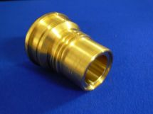 "Adaptor NIT 2.5"" Nut X 1.5"" Fixed End Machined Brass"