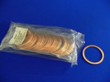 "Copper Gasket 2.5"" O2 Cleaned And Vacuum Sealed In Packs Of 25 - Must Purchase Packs Of 25."