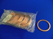 "Copper Gasket 3"" O2 Cleaned And Vacuum Sealed In Packs Of 25 - Must Purchase Packs Of 25 - Price is Per Gasket."