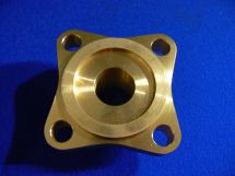 "Flange 1"" 4 Bolt Brass With Tongue"