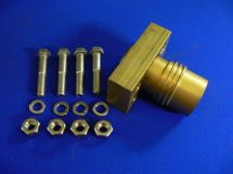 "Brazed Block Fixed End Assembly NIT 1.5"" 3 Pcs. Machined Brass With SS Bolts"