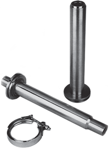 bayonets for easy field assembly of vacuum jacketed pipe sections